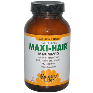 iHerb_Review_Country Life, Gluten Free, Maxi-Hair, Time Release, 90 Tablets