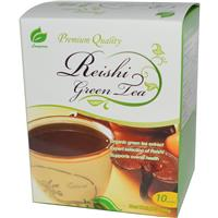 Longreen Corporation, Reishi Green Tea, 10 Sachets, 100 g