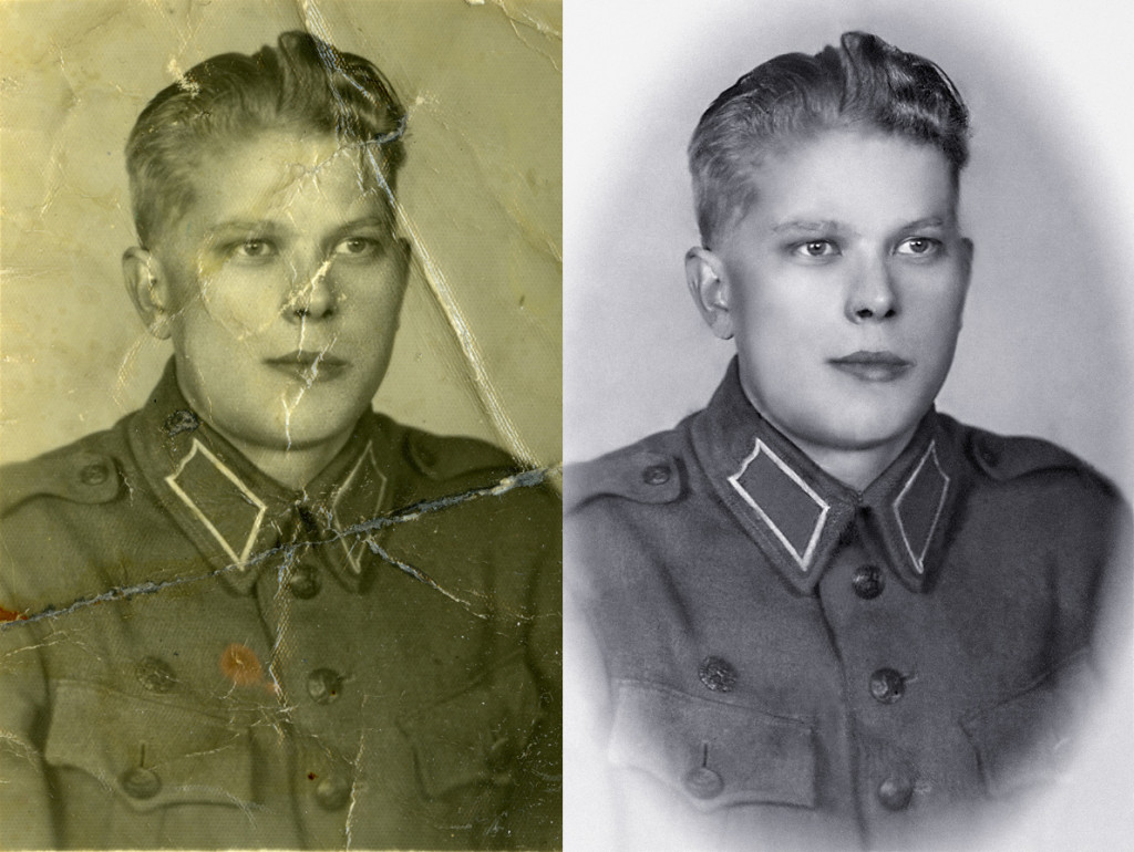 Photo restoration - Old army picture