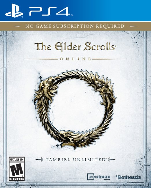 The Elder Scrolls Online Tamriel Unlimited-playstation-4-ps4-cover
