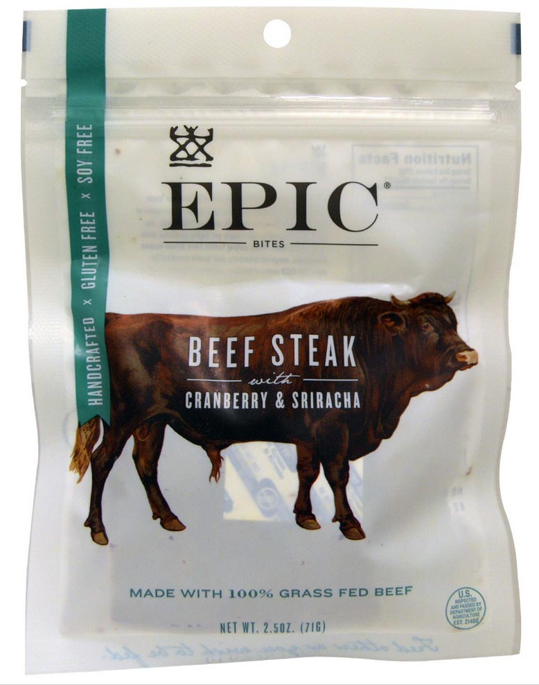 epic bites beef steak cranberry sriracha