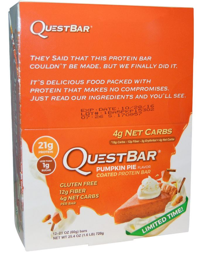 pumpkin quest nutrition bar