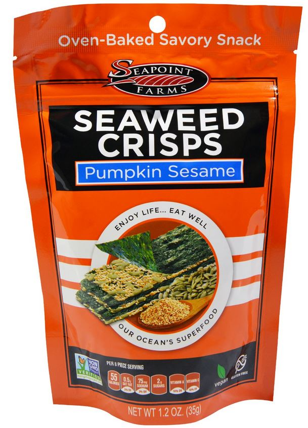 seaweed crisps pumpkin