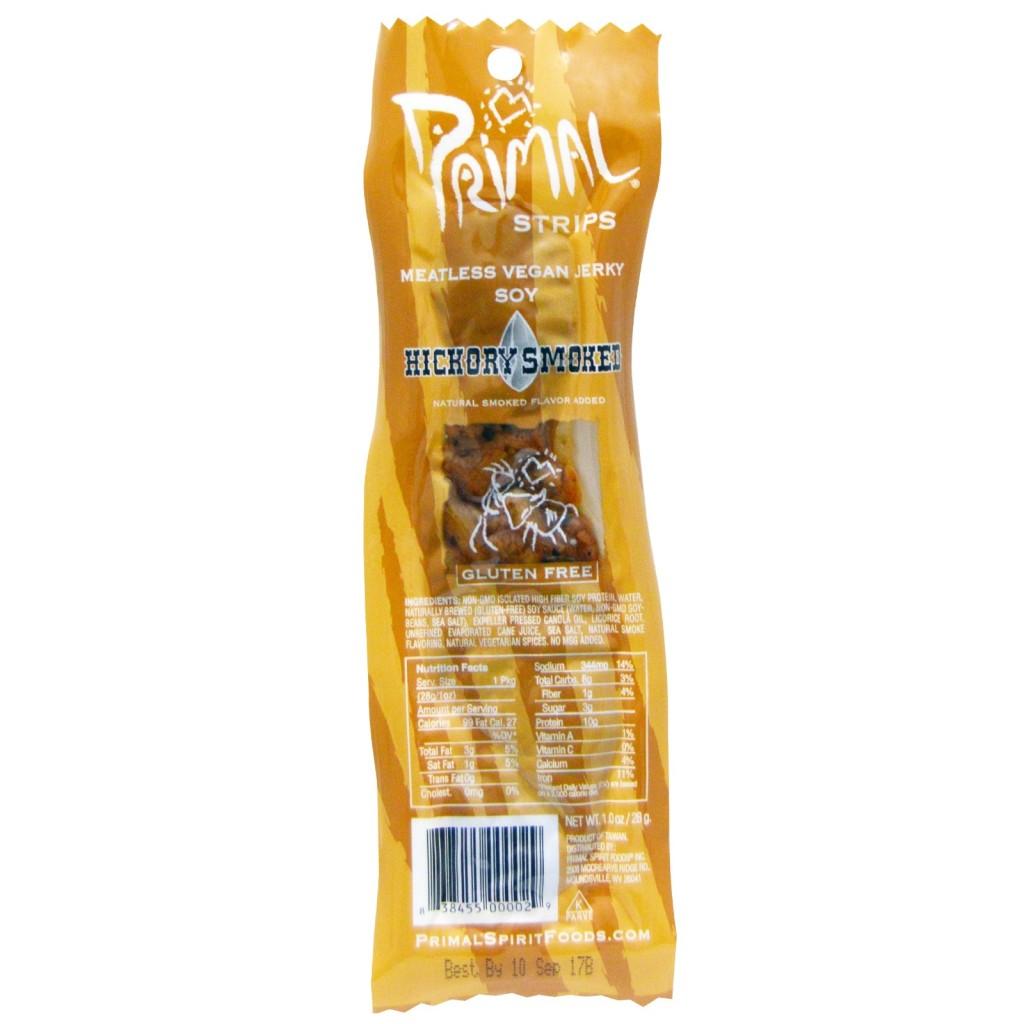 primal strips hickory smoked vegan jerky