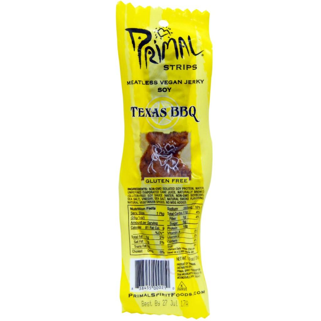 primal strips texas bbq vegan jerky