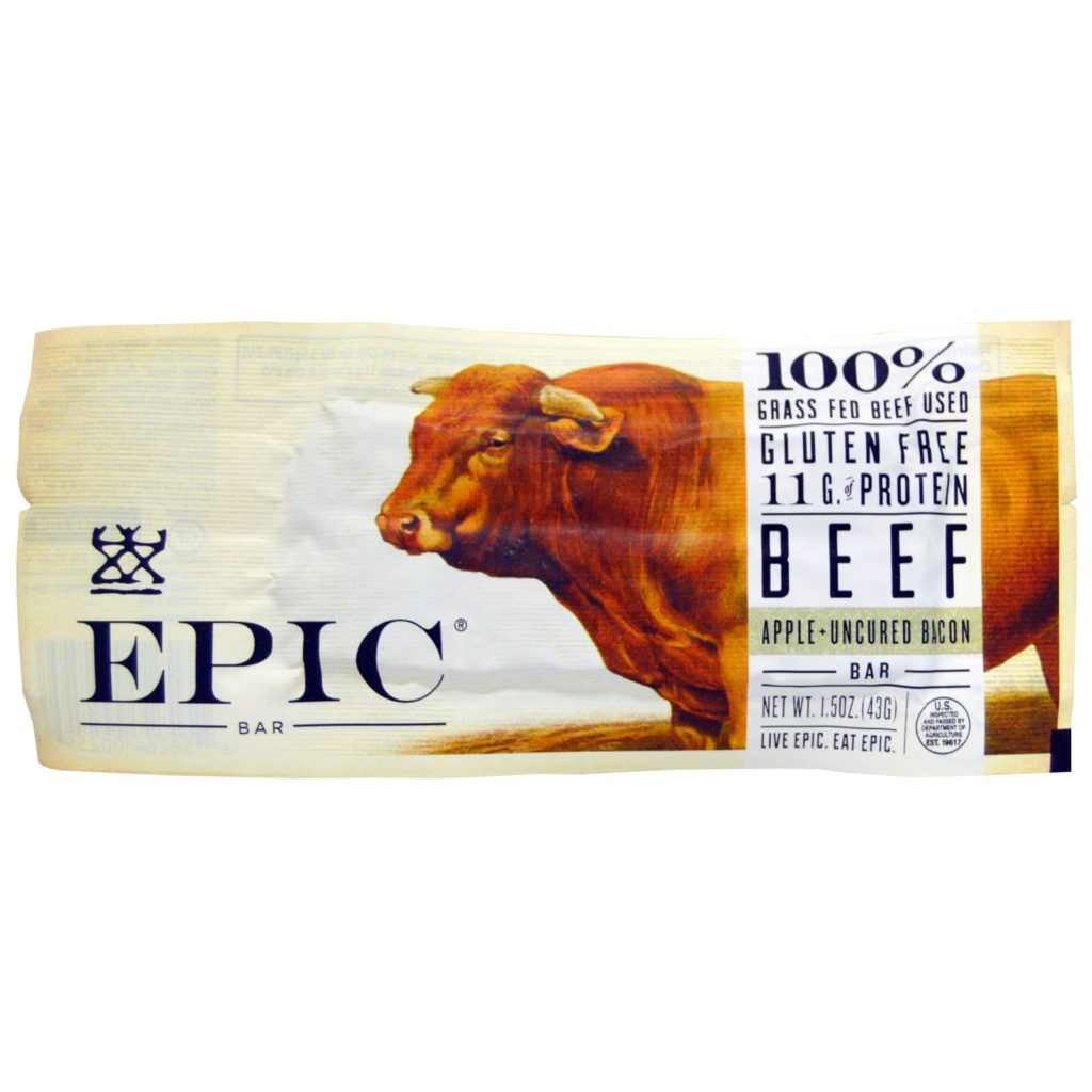 Epic Bar Beef Apple Uncured Bacon Bar