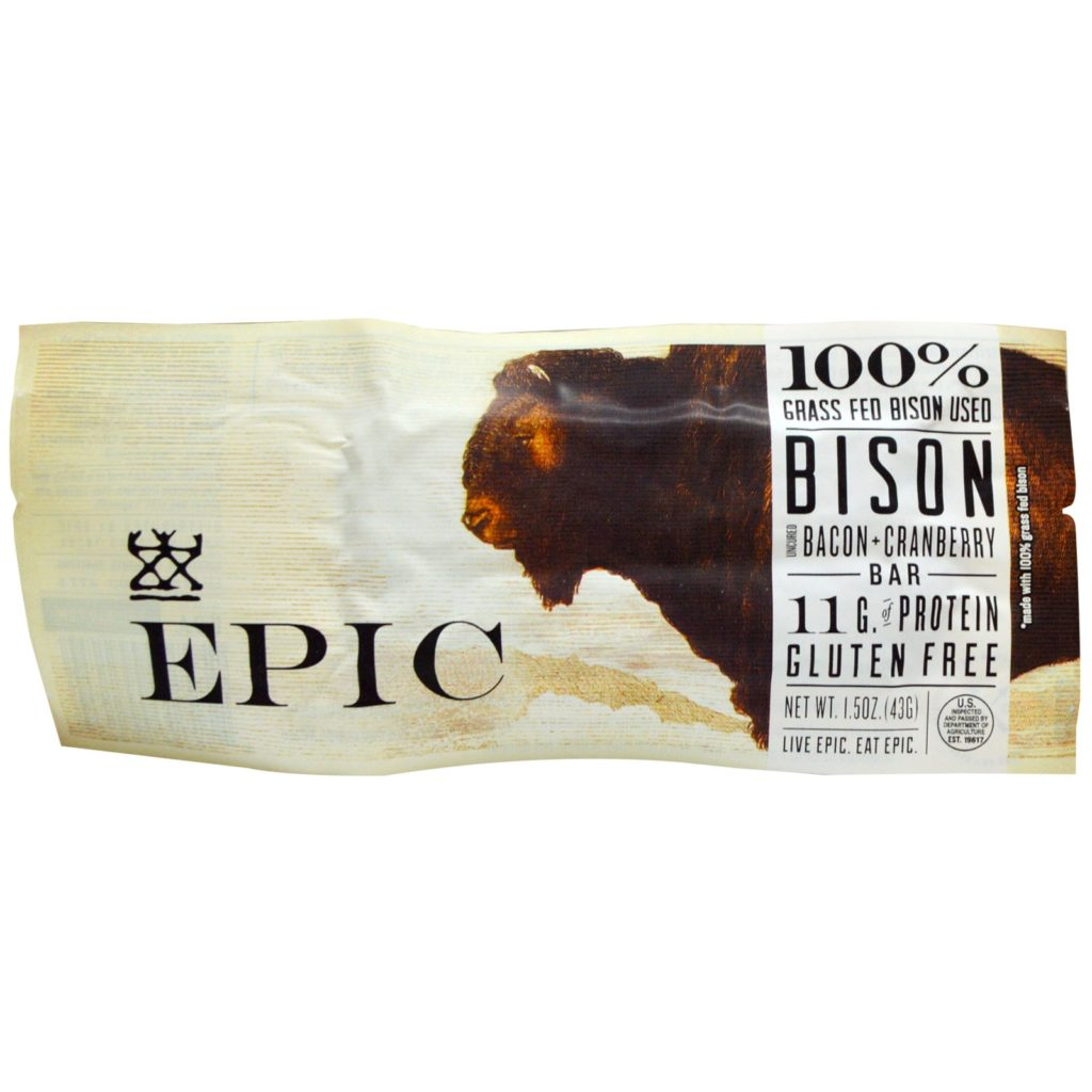 Epic Bar Bison Bacon Cranberry Bar