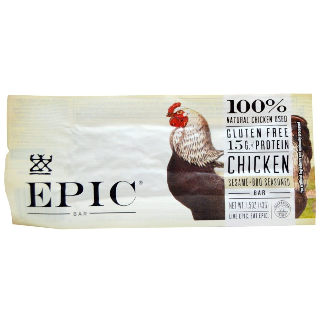 Epic Bar Chicken Sesame BBQ Seasoned Bars