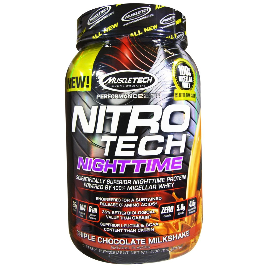 Muscletech Nitro Tech Nighttime Protein Triple Chocolate Milkshake from iherb