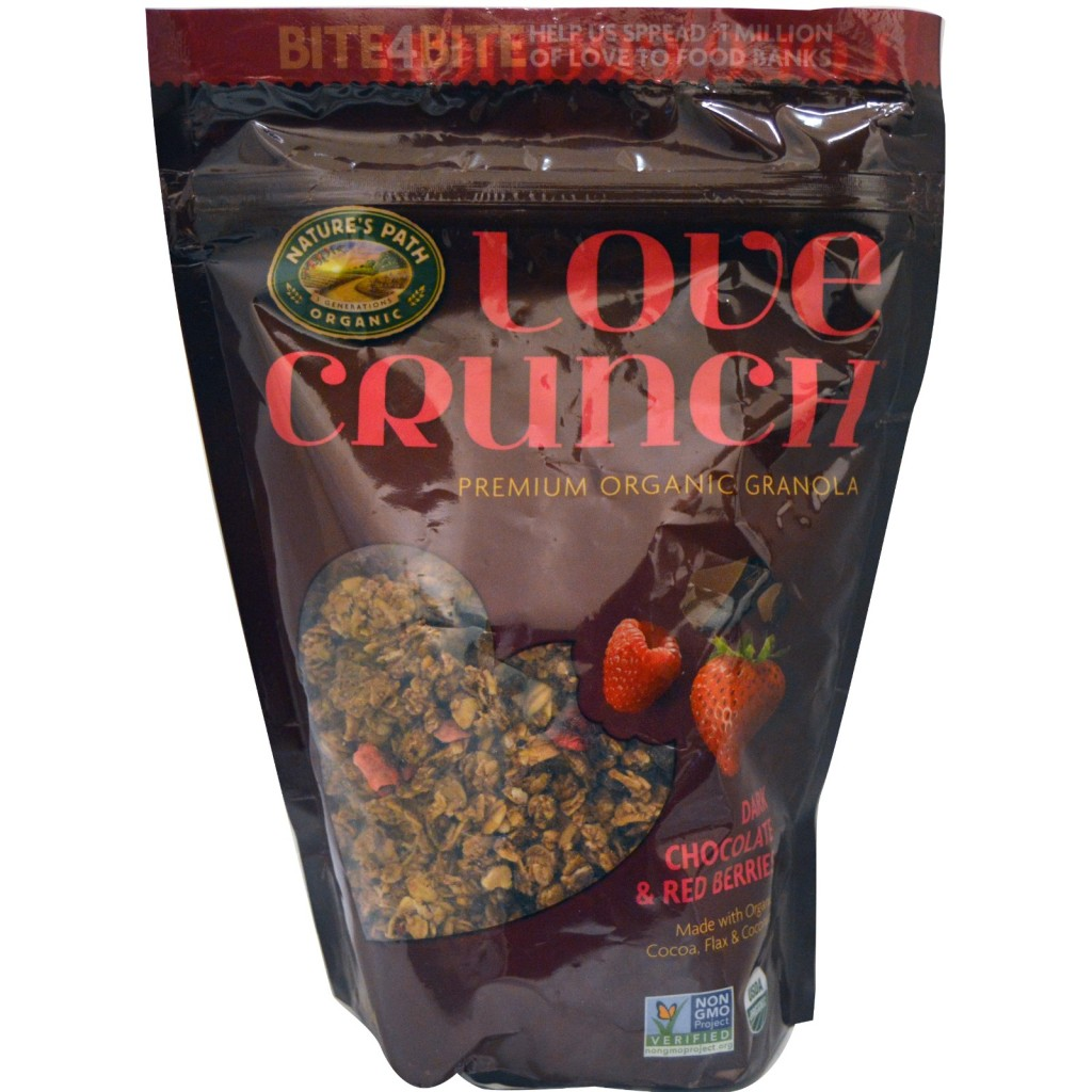 Natures Path, Love Crunch, Premium Organic Granola, Dark Chocolate Red Berries, 115 oz (325 g)