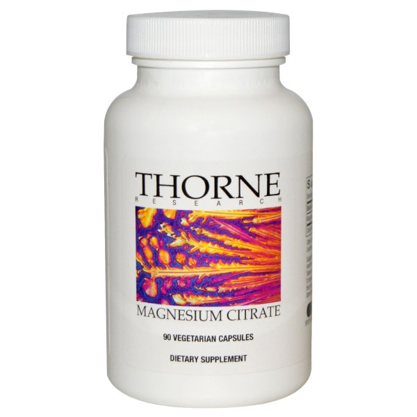 Thorne Research, Magnesium Citrate, 90 Veggie Caps
