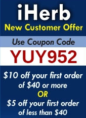 iHerb Coupon Code Badge and Discount Banner