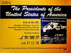 Poster - PUSA / Presidents Of The USA - Promo - Lump
