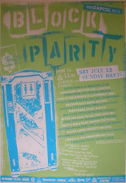 Presidents of the USA - Capitol Hill Block Party - Poster 2003