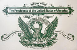 Poster - Pusa / Presidents Of the USA - crystal ballroom, portland