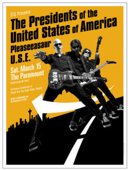 08 - Tour Poster - presidents of the usa / Pusa - Show