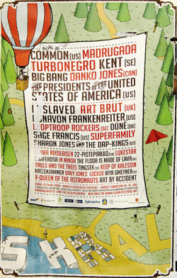 2008 Tour Poster - Presidents Of The USA / PUSA - Festival
