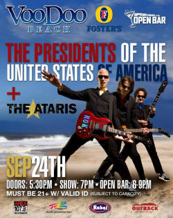 Poster - 2009 - Presidents Of The USA  / PUSA - Las Vegas