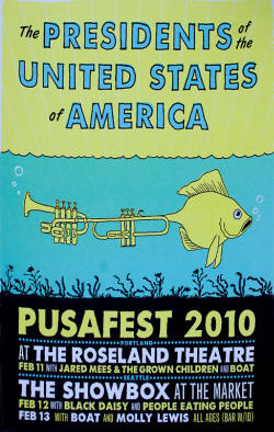Poster - 2010 - PUSA / Presidents Of The USA (POTUSA) + Dave Dederer