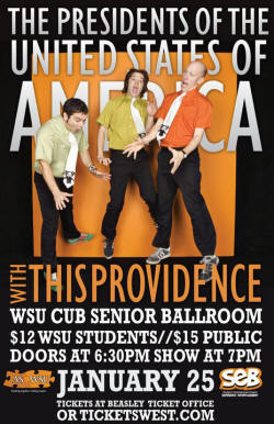 2011-01-25 - Presidents Of The USA (PUSA) and This Providence Poster