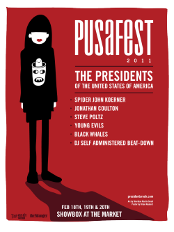 PUSA fest poster 2011 - The Presidents of The USA festival