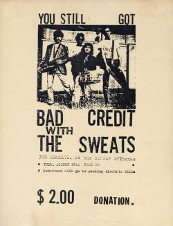 Bad Credit - Jason Finn - Mike Wells - Poster - 1984