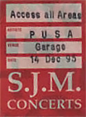 Poster - Pass - VIP - Access All Areas -  Garage London, PUSA