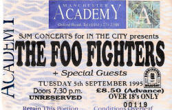 1995-09-05 - PUSA / Presidents & Foo Fighters - Ticket Photo