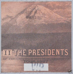 Press / VIP / Poster / Photo - The Presidents Of The USA - PUSA 97