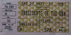 Ticket / Poster / Presidents Of The USA / PUSA