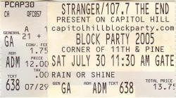 2005 Block Party - Seattle - Ticket / Poster -
