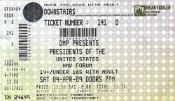 Poster / Ticket - Presidents Of USA