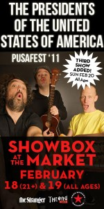 2011 PUSAfest poster - The Presidents Of The USA (PUSA)