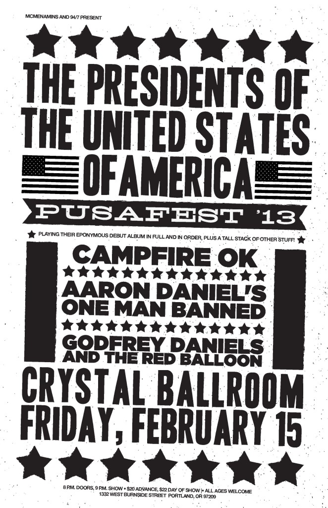 2013-02-15_Pusafest_Poster_2_Presidents_of_the_USA